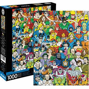 DC Comics Retro Cast Collage 1000 piece jigsaw puzzle 710mm x 510mm (nm)