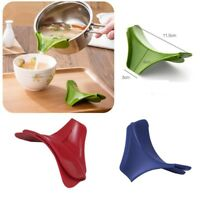 2PCS Silicone Pour Soup Funnel Gadget Tools Water Deflector Cooking Kitchen NG