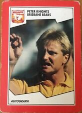 1989 AFL VFL SCANLENS BRISBANE BEARS PETER KNIGHTS COACH #149 CARD
