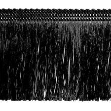 Fransen 60 mm breit Schwarz Fransenborte Posamentenborte Bordüre Decoband Brokat