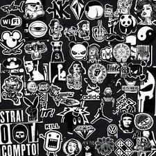 Black & White Stickers 50+ Designs! Laptop Car Skateboard Motorcycle Vinyl