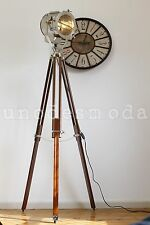 Nautical Search Spot Light Tripod Floor Lamp Hand Made Husband Dad Present Gift
