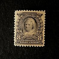 US Stamps, Scott #306 8c Martha Washington 1902 GC XF 90 2019 PSE Cert. PO Fresh