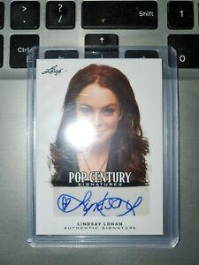 2012 Lindsay Lohan Leaf Pop Century Signatures  BA-LL1 Autograph Signed  Herbie