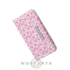 LG G3 Wallet Pouch Pink Butterfly Flowers  Case Cover Shell