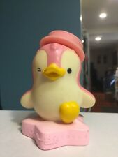 YAMAICHI SECURITIES JAPAN VINYL BANK PINK WINKING PENGUIN SANRIO MASCOT 1990'S