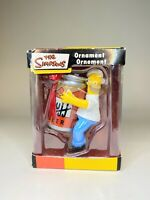 The Simpsons Homer Ornament Christmas American Greeting 2005 DUFF BEER - NOS