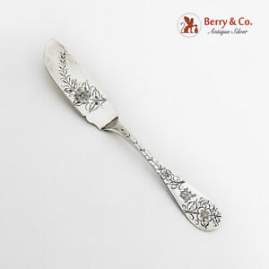 Bright Cut Floral Master Butter Knife No 43 Towle Sterling Silver Mono M