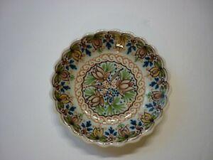Royal Tichelaar Makkum Scalloped Edge Dish #787 Netherlands Dutch Art Pottery