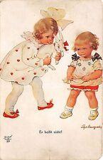 BG33575 children with rabbit   tilly von  baumgarten nice artist signed