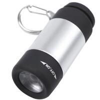 2X(1 pcs Mini USB torche lampe de poche led portable rechargeable porte cleQ4L6)