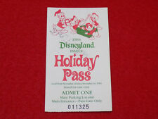 Vintage 1984 Disneyland Famille Vacances Passe Billet