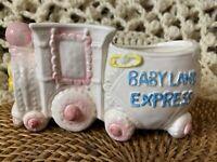 BABYLAND Express Train MidCentury Baby Nursery Planter with Lamb/Bear Relpo 5747