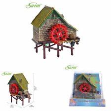 NICE Aquarium Windmill Cottage Waterwheel Landscape Live Action Decor Ornament