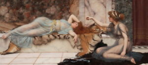 John William Godward Mischief and Repose Giclee Canvas Print Paintings Poster