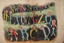 TOM THUMB'S ALPHABET  Aunt Mavor's Toy Books George Routledge  Scarce ABC