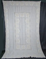 Vintage Embroidered Linen Tablecloth - 12 Napkins Size 100 x 65