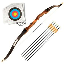 "Armex Saxon Archery Recurve Complete Bow kit Adult, RIGHT Hand, 68"" 34 Lbs"