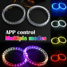 2x Multi-Color SMD LED Angel Eyes DRL Phone APP Control 95mm Halo Ring Lights
