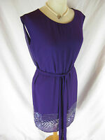 Gorgeous Sz 10 Smith & Miles Purple Beaded Cocktail Dress