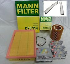 BMW E46 E39 Tune-up Kit NGK Spark Plugs Mann Oil+Air+Cabin Filters Mag Drain