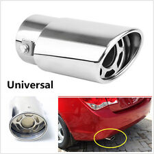 Universal Stainless Steel Car SUV Rear Exhaust Pipe Tail Throat Muffler Tip Pipe