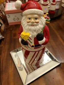 Slatkin Festive Canister with Drop-In Candle-Santa Claus-CHRISTMAS!!!