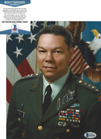 COLIN POWELL SIGNED 4 STAR GENERAL SECRETARY OF STATE 8x10 PHOTO BECKETT COA BAS