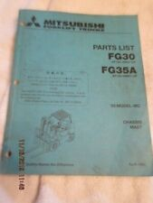 OEM 1993 Factory Mitsubshi Forklift Lift Truck Parts List Manual FG30 and FG35A