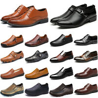 Mens Brogues Formal Smart Office Work Casual Lace Up Oxford Wedding Shoes Size