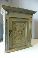 Antique Wall Cabinet Cupboard Hanging Cabinet in Oak wood Shabby Chic