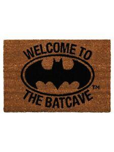 Batman Door Mat Welcome To The Batcave Brown 60 x 40cm