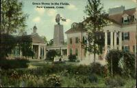 New Canaan CT Grace Home & Windmill c1910 Postcard
