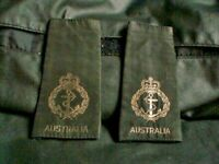 OZ SET OF EPAULETTES SHOULDER AUSTRALIAN NAVY A