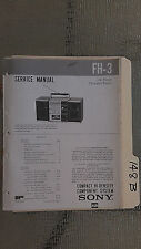 Sony fh-3 service manual original repair book stereo boombox radio tape player