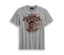 "Harley Davidson Camiseta Hombre"" Schematic SKULL ""Gris Calavera Algodón Camiseta"