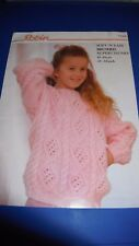 Robin Chunky Child's Sweater Knitting Pattern 13686