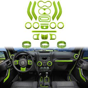 For Jeep Wrangler 21 PCS Interior Decoration Trim Kit Door Handle, AC Ring Cover