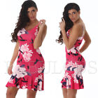 New Sleeveless Summer Dress Floral Flower Print Party Evening Size 8 10 S M