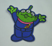 ALIEN LGM LITTLE GREEN TOY STORY EMBROIDERED APPLIQUE PATCH SEW IRON ON BADGE