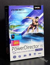 Cyberlink PowerDirector 15 Ultimate w/ AudioDirector 6 free 25GB space @NEW@