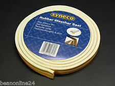 Rubber Weather Seal 18 x 8mm - 5 metres Draught Stopper Insulation w/ Adhesive