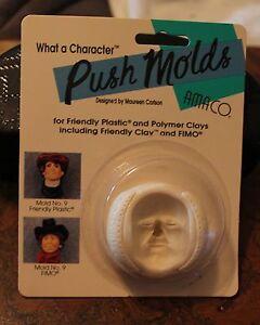 "AMACO - No. 9 Man's Face - ""Daniel John"" Push Mold by Maureen Carlson - RARE-OOP"