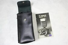 Nice Canon Speedlite 199A Flash Black Soft Snap Case & Instruction Manual Only!