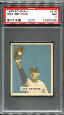 1949 Bowman #218 Dick Kryhoski PSA 7 ++ High Number New York Yankees