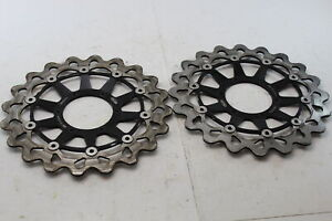 08-16 HONDA CBR1000RR ARASHI FRONT LEFT & RIGHT BRAKE ROTORS DISCS - *STRAIGHT*