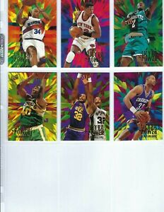 1995-96 Fleer Ultra ULTRA POWER (10 Card) Set Shaquille O'Neal, Barkley,Kemp+++