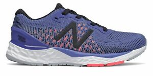 New Balance Kid's Fresh Foam 880v10 Womens Shoes Blue with Pink