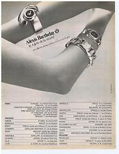 PUBLICITE ADVERTISING 114 1972 ALEXIS BARTHELAY le styliste de la montre