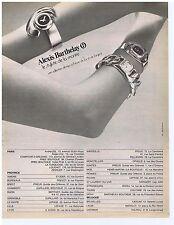 PUBLICITE ADVERTISING 114 1972 ALEXIS BARTHELAY le styliste de la montre